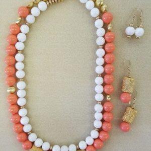 Peach White Gold Set
