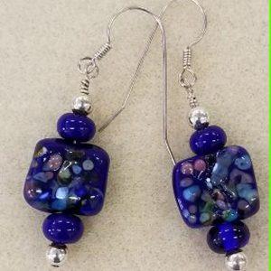 SBO blue confetti earrings