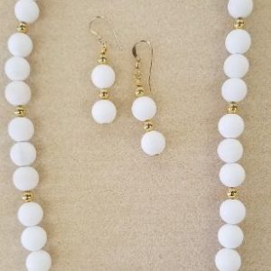 White necklace set