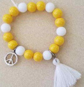 Yellow Tassel Bracelet 7i 20