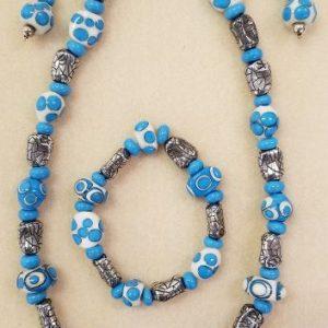 SBO Turquoise, White, Silver set