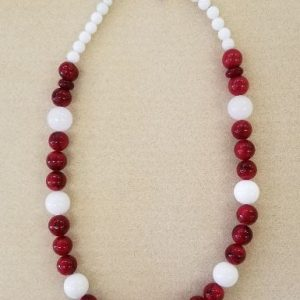 White Red Necklace