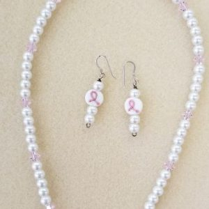 Cancer pearl & Swarovski 17 in 60 set