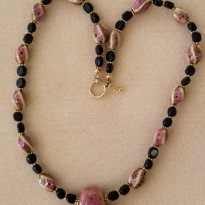 Purple Black Necklace 23i 75