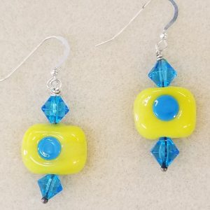 SBO171e Yellow sq aqua dot