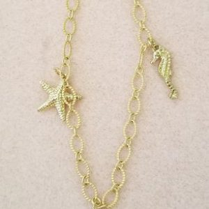 659b Gold chain ankle