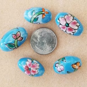 2070 ceramic blue flower
