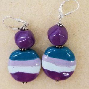 922e Kazuri purple stripes