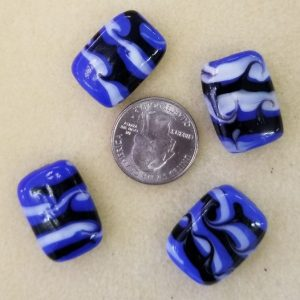 2171 blue black glass rectangle