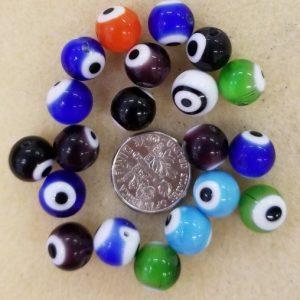 2222 sm multi color evil eye