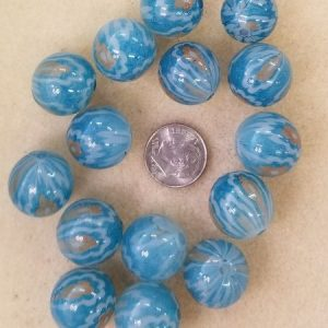 2373 glass blu gold balls