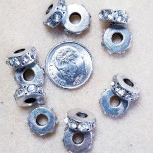 3187 silver tone rings